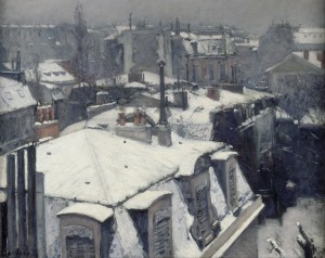Gustav Caillebotte, Rooftops in the Snow (Snow Effect)