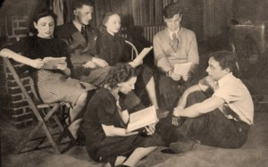 Dave Lipton in Young Communist League study group (pictured with suit and tie in back row)